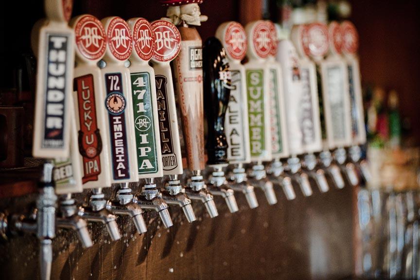 Breckenridge Brewery beer taps